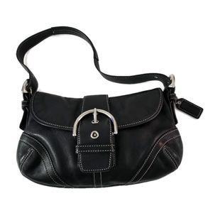 Coach Soho Black Leather Medium Size Shoulder Bag